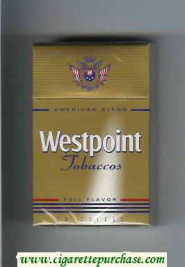 Westpoint Tobaccos Full Flavor American Blend cigarettes hard box