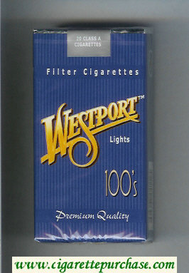 Westport Lights 100s Premium Quality cigarettes soft box
