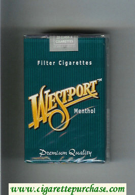 Westport Menthol Premium Quality cigarettes soft box