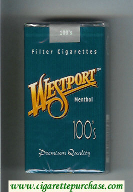 Westport Menthol 100s Premium Quality cigarettes soft box