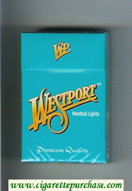 Westport Menthol Lights Premium Quality cigarettes hard box