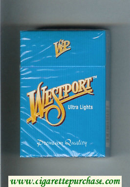 Westport Ultra Lights Premium Quality cigarettes hard box