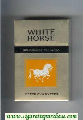 Discount White Horse Broadleaf Virginia Filter cigarettes hard box