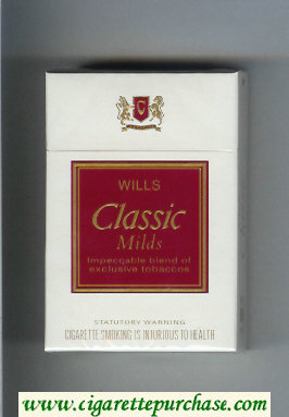 Discount Wills Classic Milds cigarettes hard box
