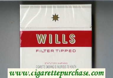 Wills Filter Tipped cigarettes wide flat hard box