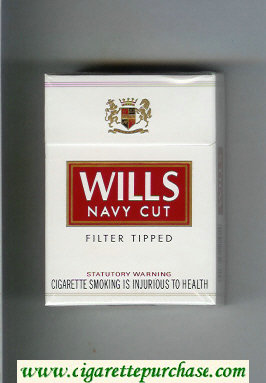 Wills Navy Cut Filter Tipped cigarettes white and red hard box