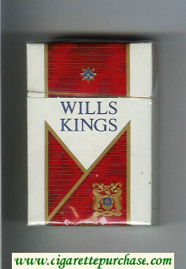 Wills Kings cigarettes hard box