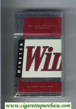 Winston Filters 100s cigarettes hard box