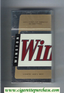 Winston Lights 100s cigarettes hard box