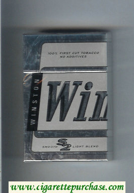 Winston S2 Smooth Light Blend cigarettes hard box
