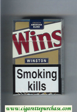Winston Smooth American Blend cigarettes white and gold hard box