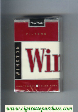 Winston Filters cigarettes soft box