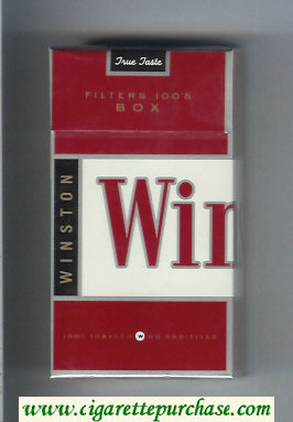 Winston Filters 100s Box cigarettes hard box