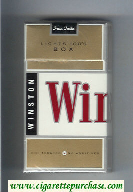 Winston Lights 100s Box cigarettes hard box