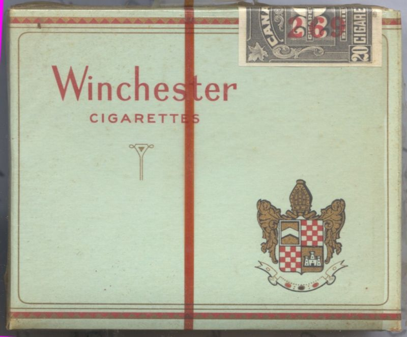 Winchester Cigarettes wide flat hard box