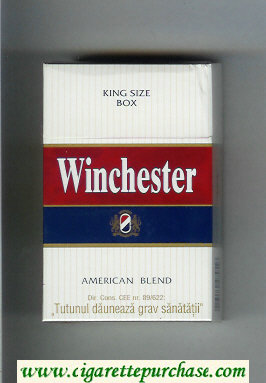 Winchester American Blend Cigarettes hard box