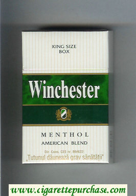 Winchester Menthol American Blend Cigarettes hard box
