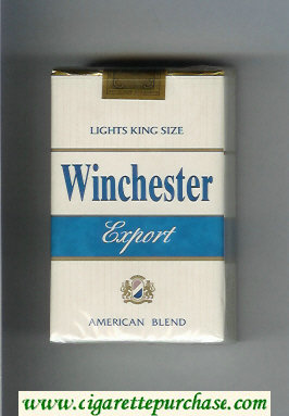 Winchester Export Lights American Blend Cigarettes soft box