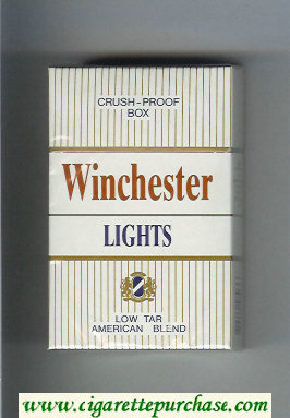 Winchester Lights American Blend Cigarettes white hard box