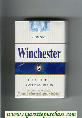 Winchester Lights American Blend Cigarettes white and blue hard box