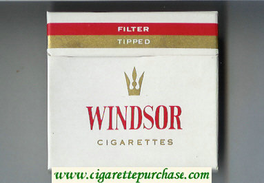 Windsor Filter Tipped Cigarettes wide flat hard box