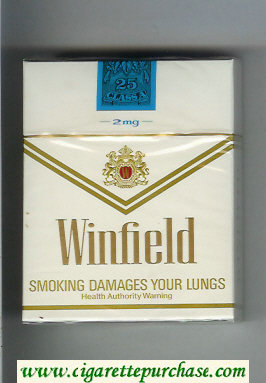 Winfield 2 mg 25s Cigarettes white hard box