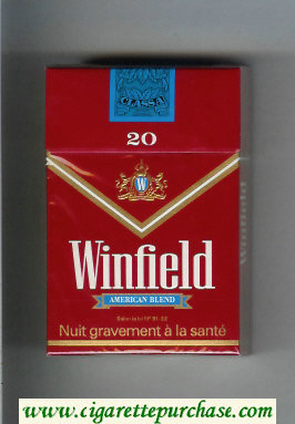 Discount Winfield American Blend Cigarettes red hard box