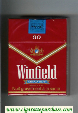 Winfield American Blend 30 Cigarettes red hard box