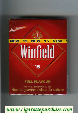 Winfield Full Flavour An Australian Favourite Cigarettes red hard box