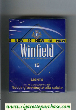 Discount Winfield Lights An Australian Favourite Cigarettes blue hard box