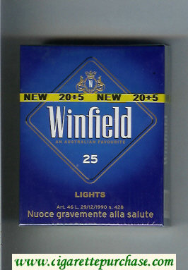 Discount Winfield Lights An Australian Favourite 25 Cigarettes blue hard box