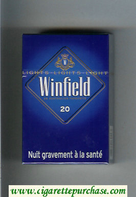 Discount Winfield An Australian Favourite Cigarettes blue hard box