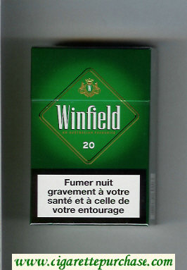 Discount Winfield An Australian Favourite Cigarettes green Menthol hard box