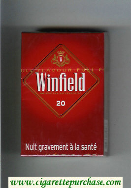 Winfield An Australian Favourite Cigarettes red hard box