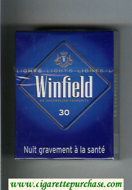 Discount Winfield An Australian Favourite 30 Cigarettes blue hard box