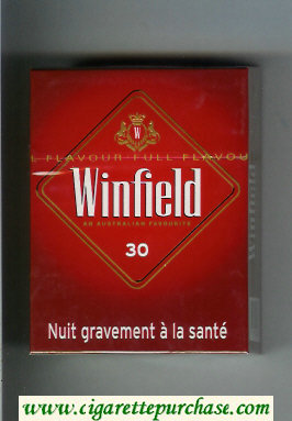 Winfield An Australian Favourite 30 Cigarettes red hard box