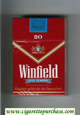 Discount Winfield Full Flavour Cigarettes red hard box