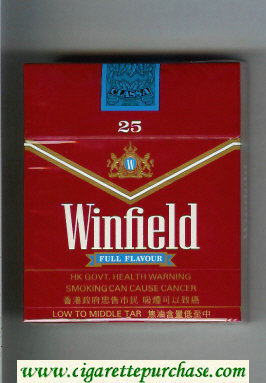 Winfield Full Flavour 25 Cigarettes red hard box
