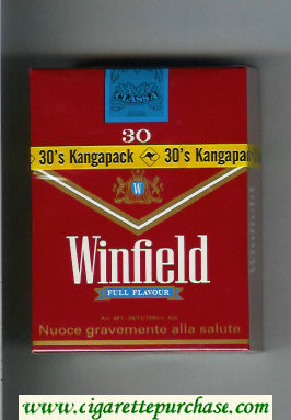 Winfield Full Flavour 30 Cigarettes red hard box