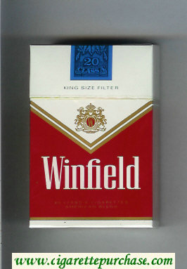 Discount Winfield King Size Filter Cigarettes red and white hard box