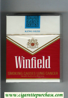Winfield King Size 25 Cigarettes red and white hard box