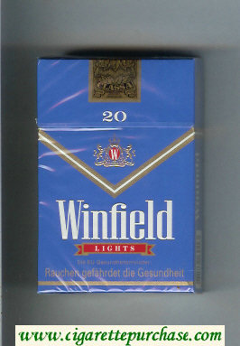 Discount Winfield Lights Cigarettes blue hard box