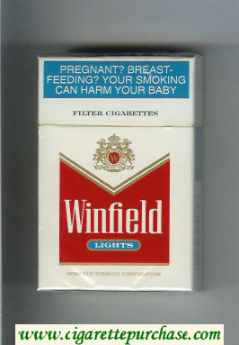 Winfield Lights Cigarettes white and red hard box