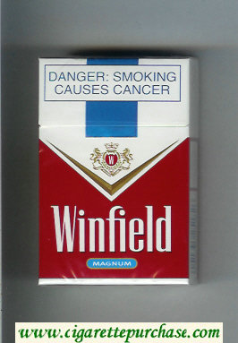 Winfield Magnum Cigarettes red and white hard box