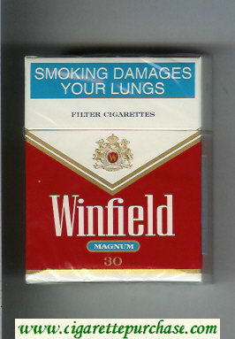 Winfield Magnum 30 Cigarettes red and white hard box