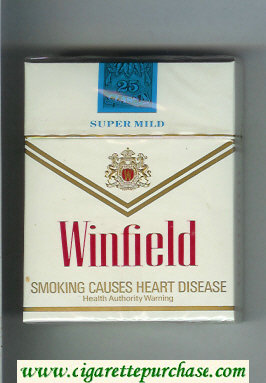 Discount Winfield Super Mild 25 Cigarettes white hard box