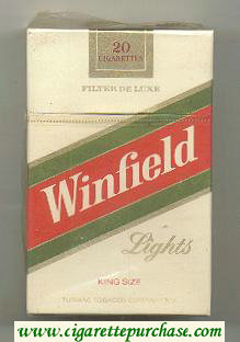 Discount Winfield Lights Cigarettes hard box