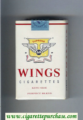 Wings BandW Supreme Perfect Blend Cigarettes soft box