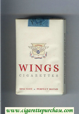 Wings BandW Supreme Perfect Blend soft box Cigarettes