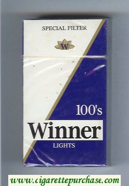 Winner Lights 100s Special Filter Cigarettes hard box